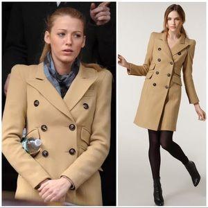 SMYTHE les vestes 'Cadet' Wool Blend Camel Coat